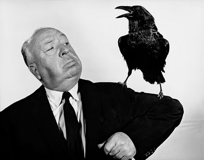hitchcock and a raven from Shalavee.com
