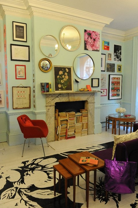 kate spade painted floor via the Hunted Interior on Shalavee.com