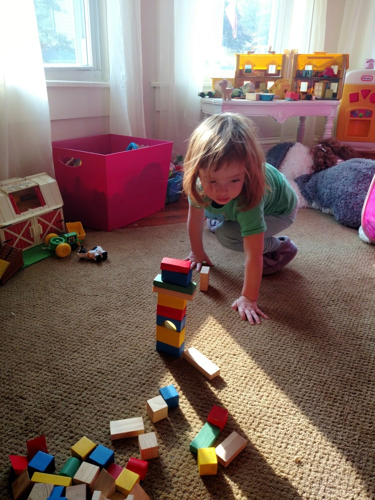 playing with blocks on Shalavee.com