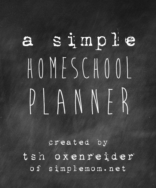 A Simple Homeschool Planner