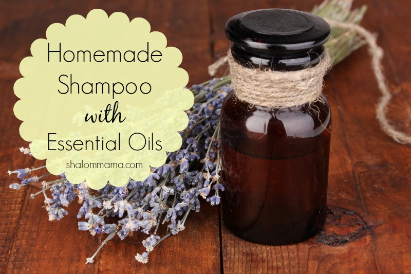 Homemade shampoo with essential oils