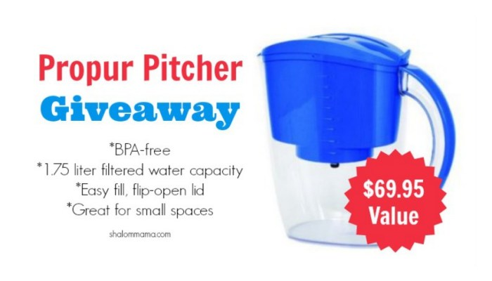 Propur Pitcher Giveaway winner. Includes a special coupon code to get 20% off all Propur products at United Environmental Solutions.