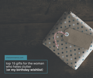 Top 15 gifts for the woman who hates clutter (or my birthday wish list)