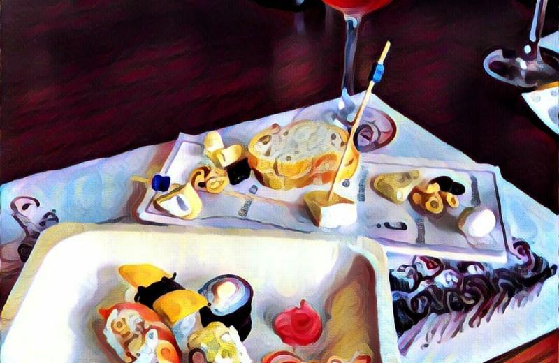 Sushi-cheese-platter-wine-glass-oberoi-hotel-gurgaon-wine-event-fine-wine-affair-#fridayfiction