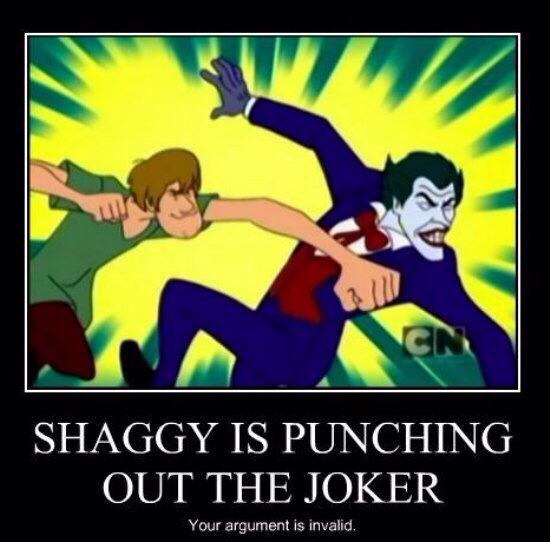 When you get between The Shags and his scooby snacks, the joke's on you