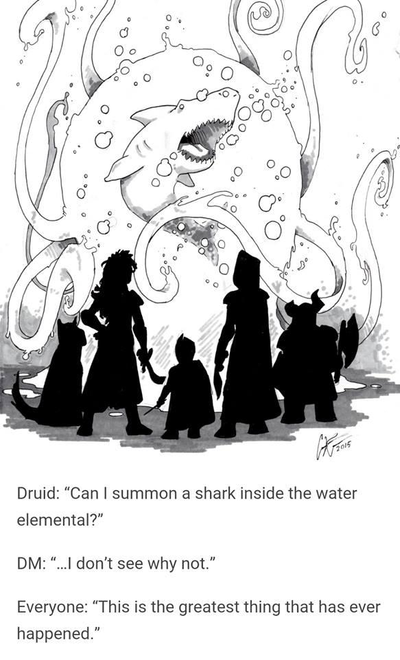 d&d meme shark elemental