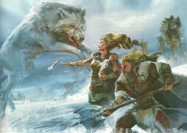 d&d storm kings thunder barbarians and wolf