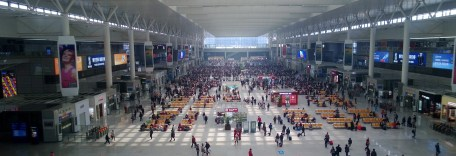 Shanghai Honqiao Railway Station - one three major railway stations in Shanghai. All I have to do is buy a ticket and find out where I need to get on my train. Simple, right?