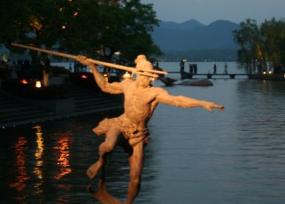 This one didn't make the original cut to my Hangzhou post. I took this picture a dozen times before I finally held the camera still enough so the statue wasn't all blurry. Note to self: Next time bring a collapsible tripod.
