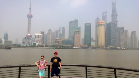 ...looking across the river to Pudong...