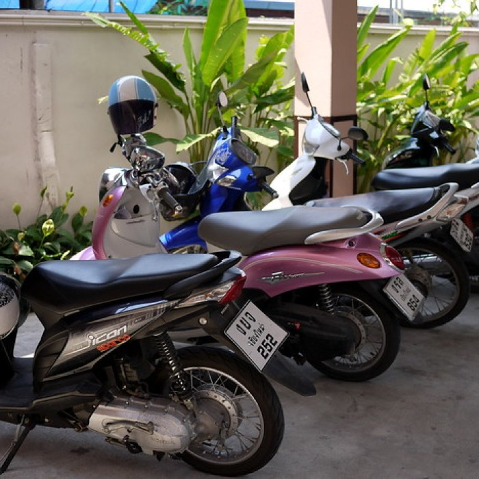 Motorbike in Chiang Mai, Thailand