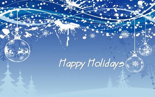 Medium Of Happy Holidays Message