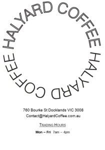 Halyard Coffee, Docklands