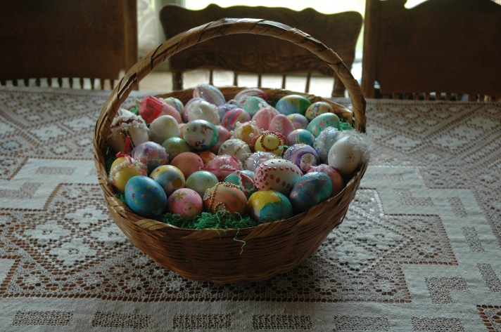 Blown out eggs, decorated-these were made 15 years ago