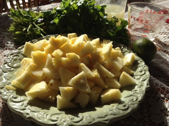 Chopped pineapple