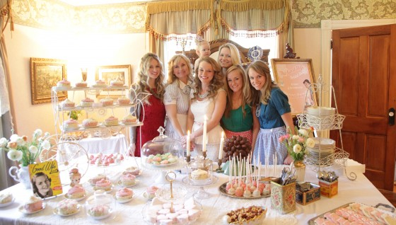 Rachael with all her sisters, niece and me at her Good Wife Bridal Shower