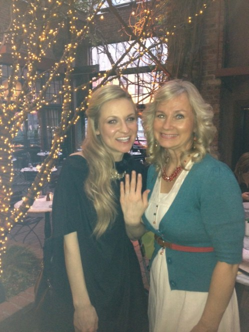 The Princess and me at the engagement party! This was taken after we composed ourselves from tears of JOY!