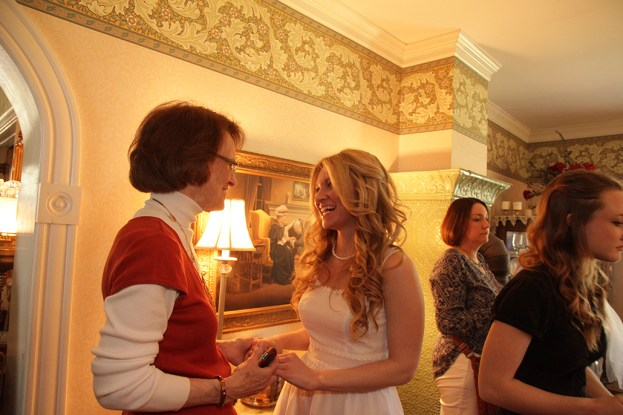 Grandma (Dale's mom) congratulating Jennifer