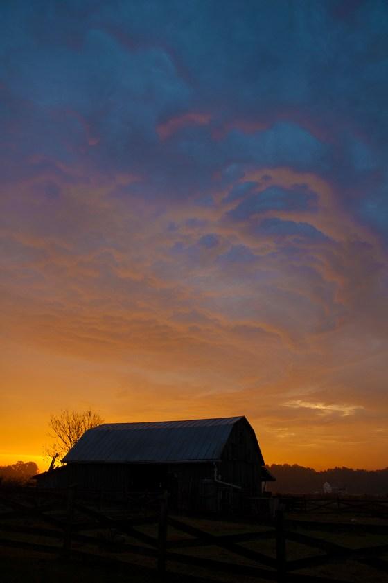 The Glasgow Farm at sunrise