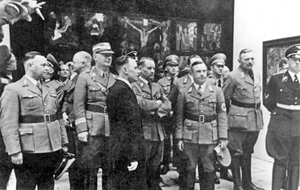 Nazi party at the Degenerate Art Exhibition