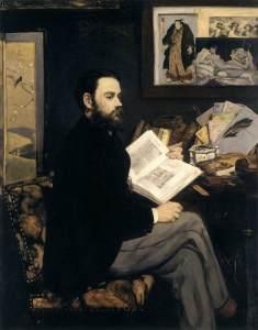 Portrait of Émile Zola by Manet, 1868