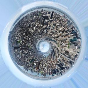 Globe buildings