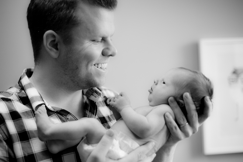 Newborn baby in home session portrait Toronto Leslieville GTA