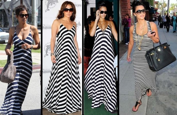 black and white maxi dresses