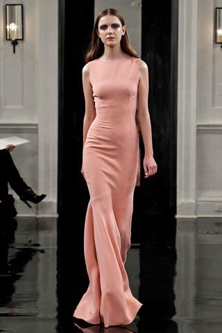 Pannelled Waist Floor Length dress SS/11victoria beckham