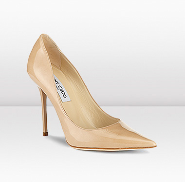 nude jimmy choo