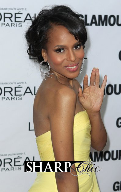 kerry washington yellow