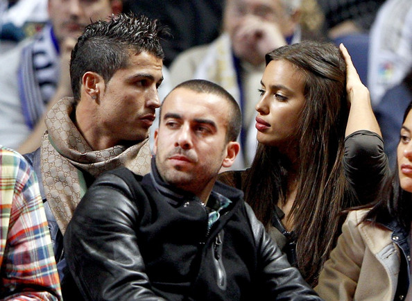 Cristiano Ronaldo and girlfriend basketball game