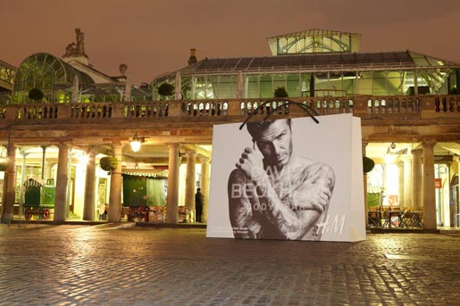 david beckham h&m bag covent garden