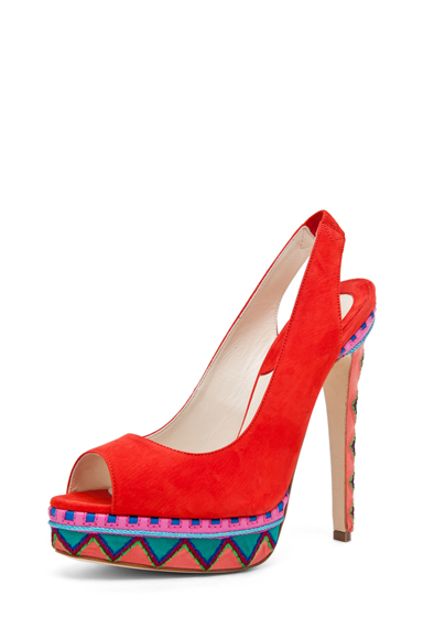 Aliyza Open Toe Pump Red