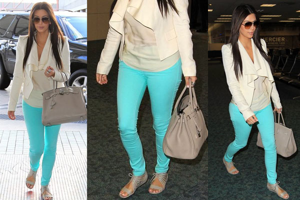 kim kardashian blue jeans pastal