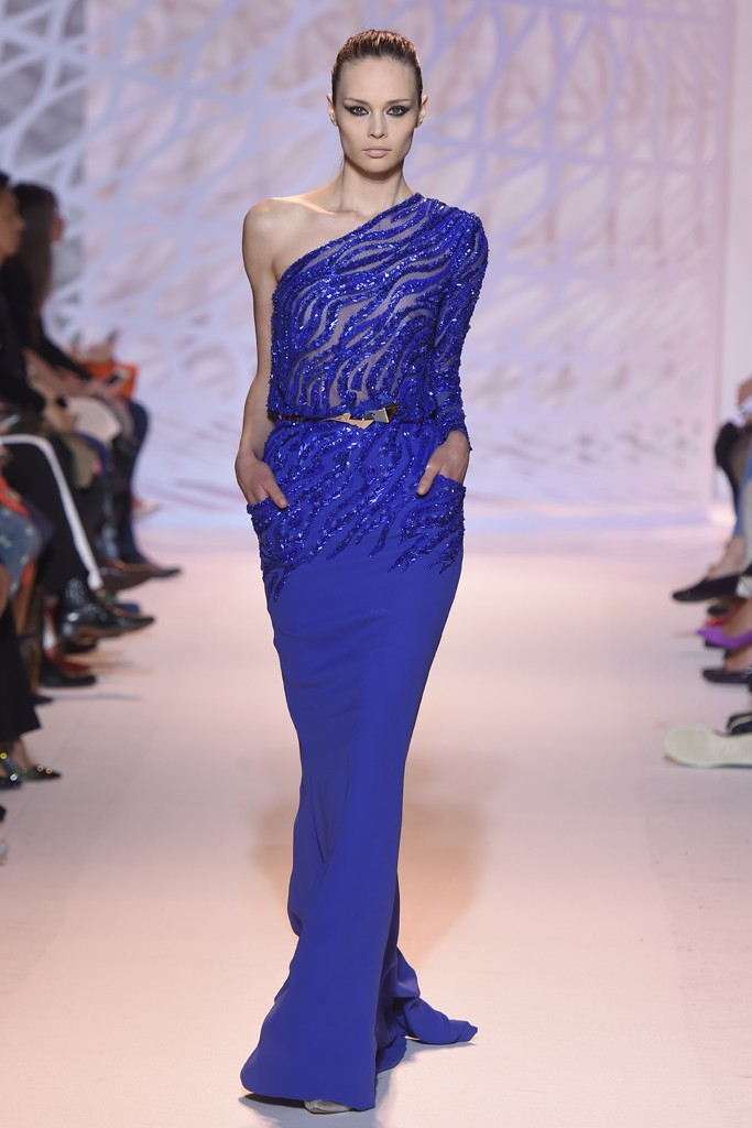 zuhair murad 2014 collection blue dress
