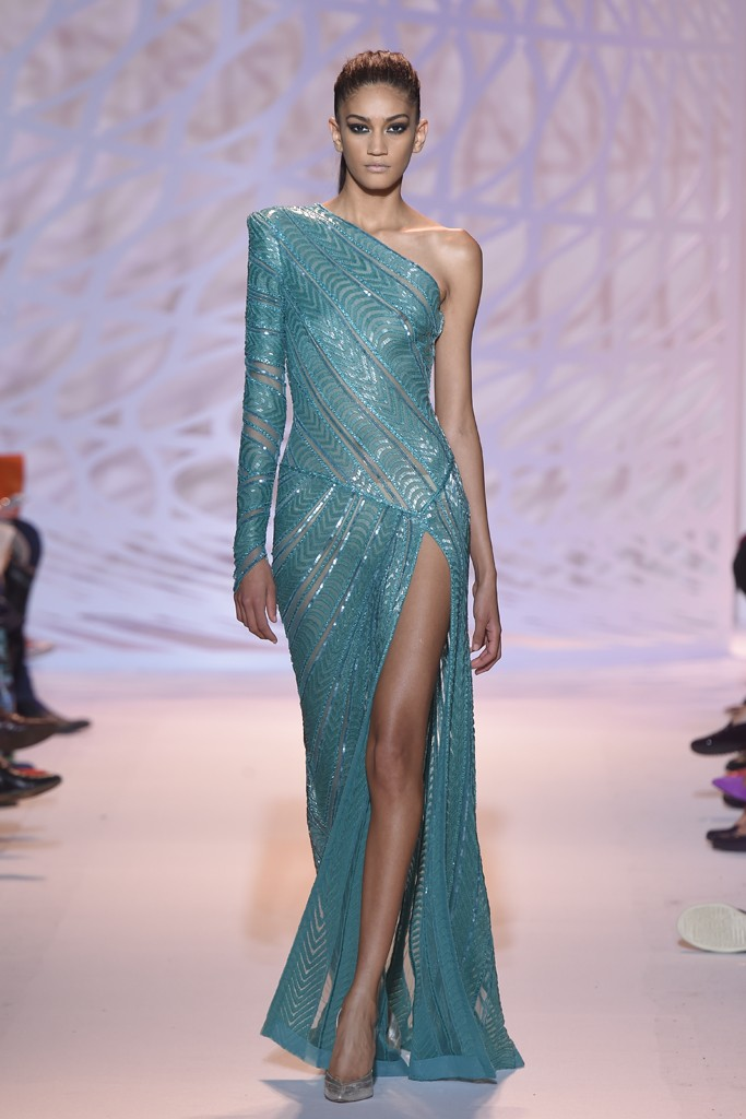 zuhair murad 2014 collection green dress