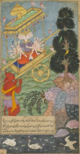 Ravana_seizes_the_chariot_Puspaka_from_Kuvera