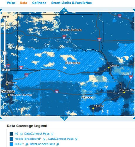 AT&T 4G coverage in Denver and in Kansas City