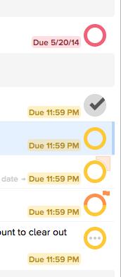 OmniFocus 2 for Mac - Status Circles