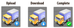 Transmit Dock Transfer Status Icon