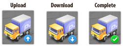 Transmit Dock Transfer Status Icon