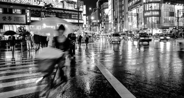 Rainy Night in Shinjuku Tokyo Japan