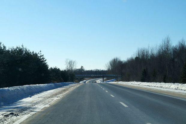 Montréal Québec - Empty road in Quebec