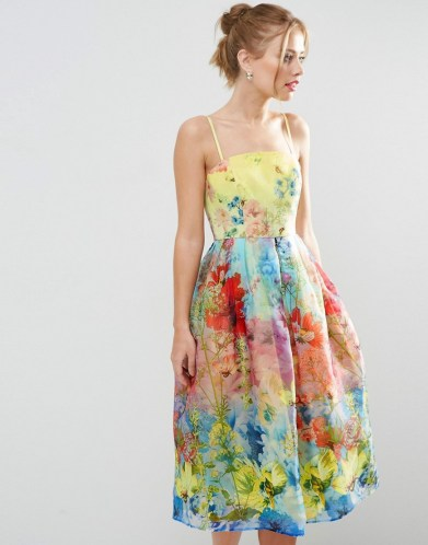 She and Hem | Cami Strap Floral Organza Midi Prom Dress £85 from ASOS