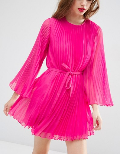 She and Hem | Pleated Flutter Sleeve Mini Dress £48.00 from ASOS