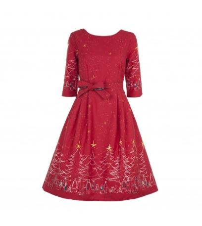 Long Sleeve Christmas Dress in Red £160 from Palava