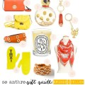 holiday gift guide orange and yellow gifts