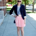 Pink + Navy Spring Outfit