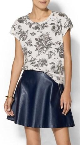 Short Sleeved Floral Sweatshirt